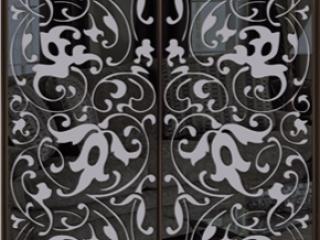 Шкаф купе Стандарт-2 Тонированное зеркало с Пескоструем-4 1300*2200*450 двухдверный