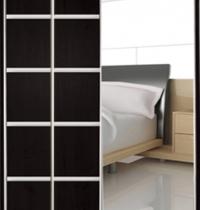 Шкаф купе Стандарт 2 комбинируемый ДСП и зеркало 1 дверь двухдверный