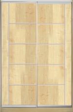 Шкаф купе Классик-1  ДСП-7 1000*2000*450 двухдверный