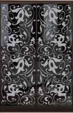 Шкаф купе Стандарт-2 Тонированное зеркало с Пескоструем-4 1400*2200*450 двухдверный